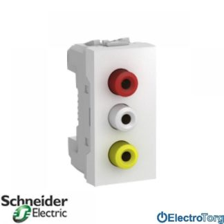 3-RCA коннектор белый Schneider Electric Франция